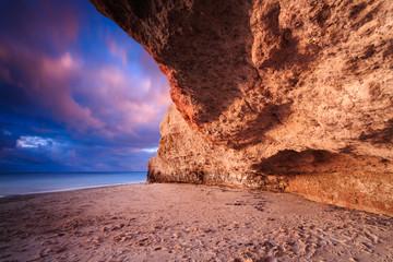 Port Noarlunga cliffs at twilight