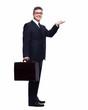 Businessman presenting a copyspace.