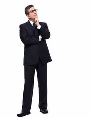 Businessman thinking.