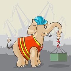 Elephant is a crane