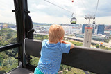 little boy in cable car, Singapore