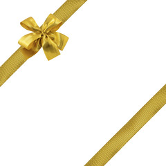 rubans dorés emballage cadeau