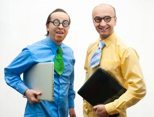 Crazy businessmen