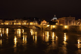 night view of Tiber river