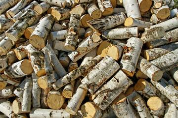 Birch firewood.