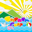 vector illustration of poster design for Summer Camp