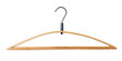 Coat hanger isolated on white, clipping path included.