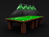 Billiard table in the black room