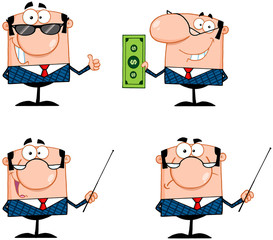 Business Man Cartoon Characters. Collection 2
