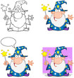 Wizard Cartoon Characters.  Collection 3
