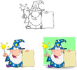 Wizard Cartoon Characters. Collection 4