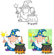 Wizard Cartoon Characters. Collection 9