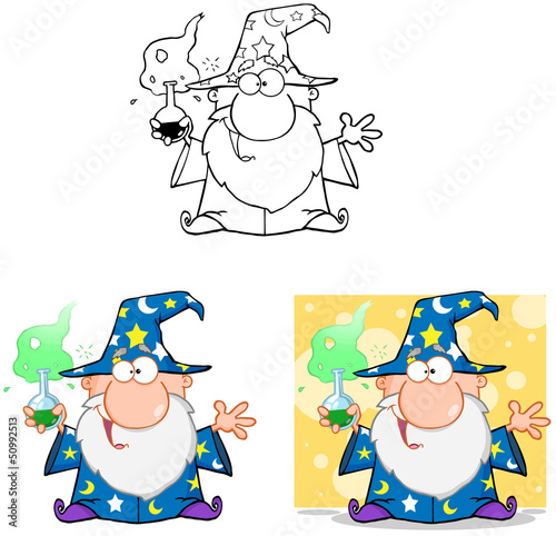 Wizard Cartoon Characters. Collection 6