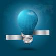 Creative light bulb With globe modern template
