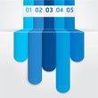 Blue Color Infographics template. Vector illustration.