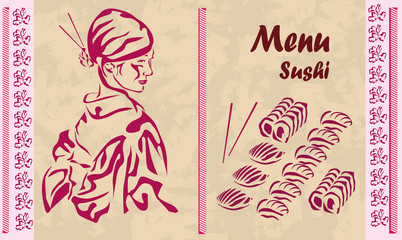 Menu . sushi .