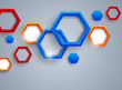 Abstract background with hexgaons