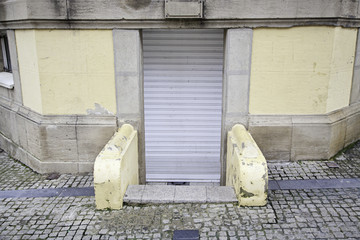 Old door in the city