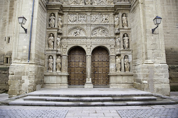 Facade of old medieval church