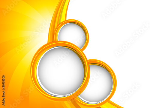 Background with orange circles