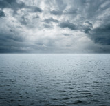 Dramatic scene of ocean befre storm