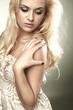 Beautiful sensitive blond woman