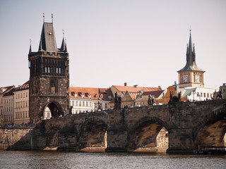 Charles bridge, Old town side direction, Prag