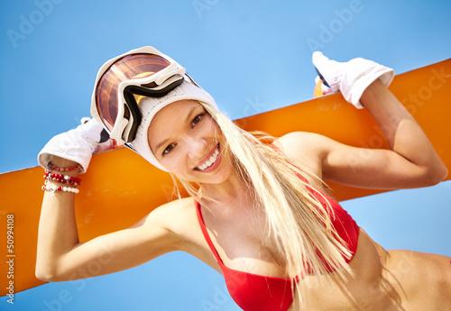 Summer snowboarder