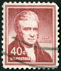 USA - 1955: shows portrait of John Marshall (1755-1835)