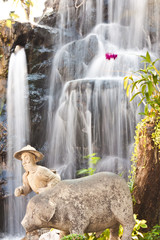beauty of waterfall in thailand