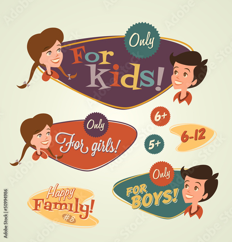 Retro family emblems