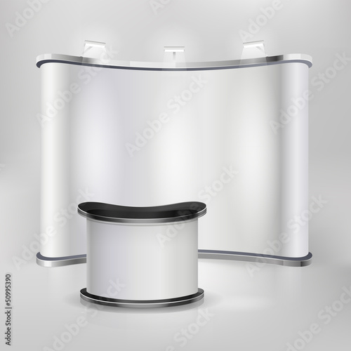 Trade exhibition stand display. Vector