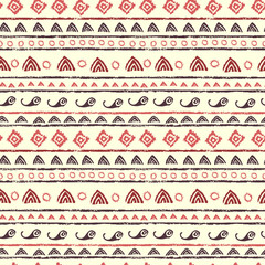 Seamless pattern in tribal style