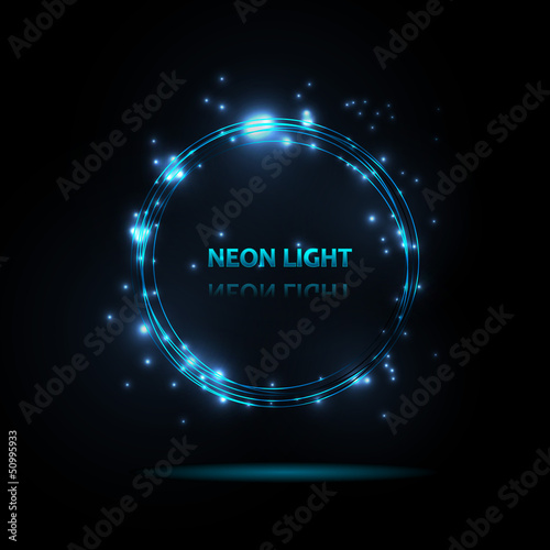 Abstract background. Neon