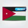 Fabric texture of the flag of Jordan