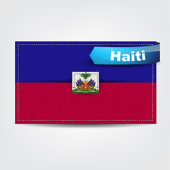 Fabric texture of the flag of Haiti