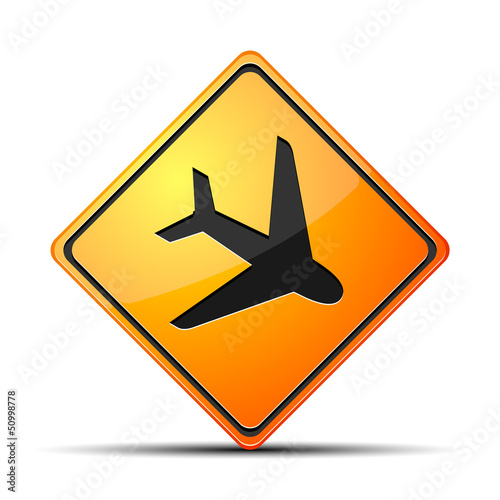 Airport  Hazard Sign