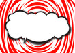 Speeh bubble with red background