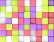 Cubes abstract background random color
