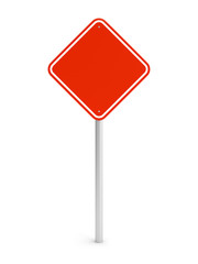 Red blank rectangle traffic sign