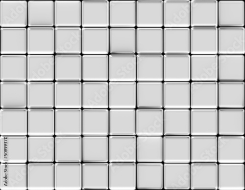 Cubes abstract background silver