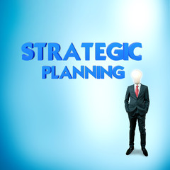 Business word for business and finance concept, Strategic planni