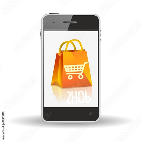 mcommerce shopping bag icon