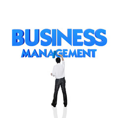 Business word for business and finance concept, Business managem
