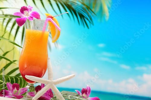 Zdjęcia na płótnie, fototapety na wymiar, obrazy na ścianę : Refreshing orange cocktail