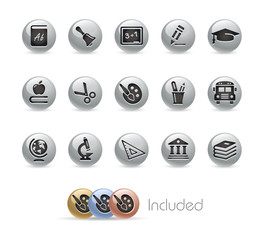 Education Icons / Vector includes 4 Colors