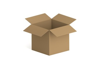 Karton Quadrat Isometrisch