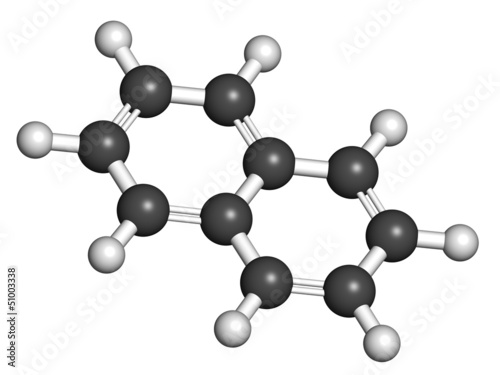 Naphthalene mothball ingredient, molecular model