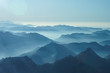 Leinwandbild Motiv Nebelschwaden in den Tälern des Voralpenlandes