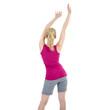 Rückenansicht einer Frau beim Sport